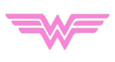 SUPERSTICKI® Wonder Woman Aufkleber Decal Hintergrund/Maße in inch Vinyl Sticker|Cars Trucks Vans Walls Laptop| Pink |5.5 x 2.5 in|CCI1303