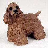 Cocker Spaniel, Brown Original Dog Figurine (4in-5in) by Conversation Concepts -