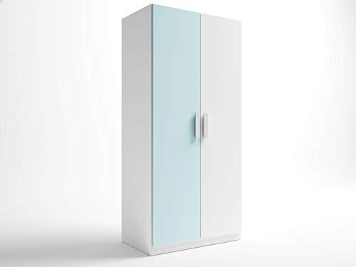 Miroytengo Armario Infantil Color Azul Blanco Dormitorio