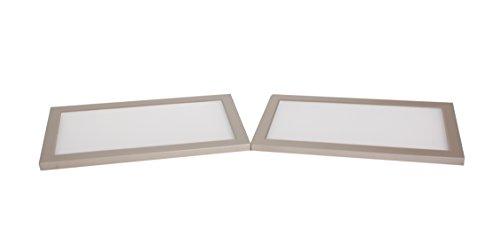 Hera Unterbauleuchten Edelstahloptik 21 x 11 x 0,85 cm, 3 Einheiten