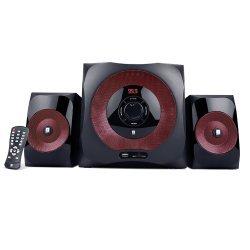 iBall Tarang Red 2.1 Speaker system AUX/PC/USB/SD/MMC, Built-in FM Radio, Bluetooth 4.0