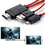 Telefono alla TV, cavo 6.5metri 11pin cavo adattatore micro USB a HDMI 1080p HDTV per Samsung Galaxy Galaxy S5/S4/S3/Note 3Galaxy Tab 38.0, Tab 310.1, Tab Pro, Galaxy Note 8, Note Pro 12.2 red