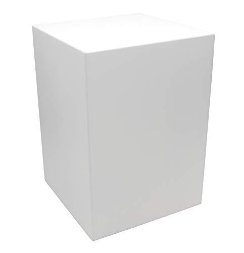 """Meister Sockel für Statuen + Figuren, Podest Größe """"XL"""" = 25x25x35cm weiß lackiert, Holzsockel, Holzsäule"""