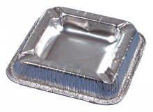 PAPSTAR Alu-Aschenbecher/14580 12,5x12,5cm silber Aluminium 70my Inh.10