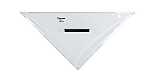 Anlege-Dreieck ohne Teilung klein 25cm mit Griff-Auflagenoppen Hypotenuse 250mm Katheten 175mm