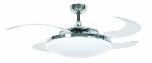 FANAWAY, Ventilatore da soffitto/Lampadario radiocomandato con ali pieghevoli, metallo