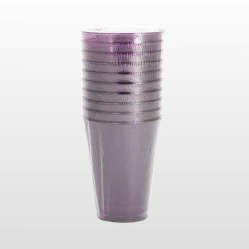 Adiserve 10 Verres Plastique Aubergine 20 cl