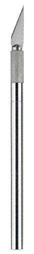 Westcott E-84010 00 Skalpell mit Metallgriff und auswechselbarer Klinge, 12 cm, silber