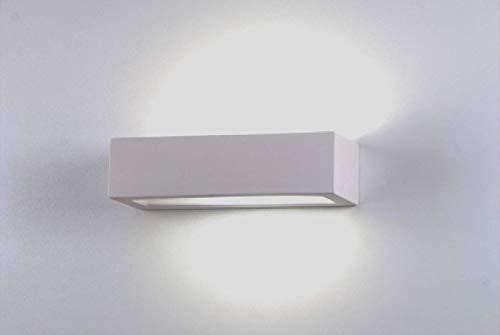 Applique rettangolare lampada da parete moderna ceramica effetto