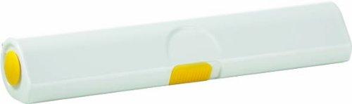 Emsa 508269 Folienschneider für Alu- oder Frischhaltefolie, Größe 33 cm, Gelb/Weiß, Click & Cut