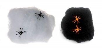 DESIGN FREUNDE 2er Set Halloween Dekorations Spinnennetz und Spinnen