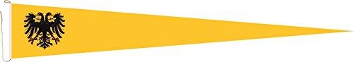 U24 Langwimpel Heiliges Römisches Reich Deutscher Nation Fahne Flagge Wimpel 150 x 40 cm Premiumqualität