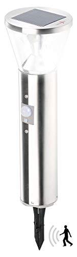 Lunartec Wegbeleuchtung Solar: Solar-LED-Wegeleuchte mit Licht-Sensor und Bewegungsmelder (Solarleuchten mit Bewegungsmelder)