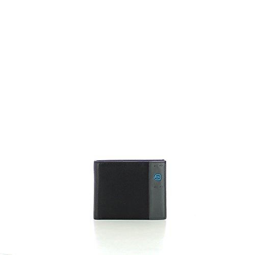 852b36305e Piquadro PU1240P15/N Portafoglio Uomo Collezione Pulse Portamonete, Pelle,  Nero, 12 cm