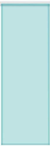 Bestlivings Transparenter Flächenvorhang Voile 60x245 cm wahlweise mit und ohne Technik, Schlichte und stilvolle Fensterdekoration in vielen erhältlich (türkis/mit Technik)