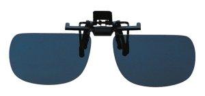Piccolo grigio clip on occhiali da sole