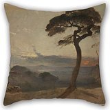 Beautifulseason Throw Pillow Case 20 X 20 Inches / 50 By 50 Cm(each Side) Nice Choice For Kids Room,bedding,pub,bedding,couples,outdoor Oil Painting Francis Danby - Hampstead Heath, Sunset