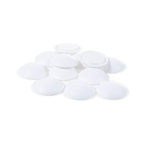 Sossai 12 x Türpuffer (Sparpack) / Wandpuffer/Türstopper selbstklebend TP40 | Ø : 40 mm | Farbe : Weiß | Material : Polyethylen