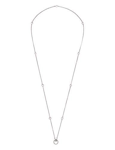 JEWELS BY LEONARDO DARLIN'S Damen-Halskette Essenza, Edelstahl mit beidseitig gefassten Kristallsteinen, CLIP & MIX System, Länge 900 mm, 016120 -