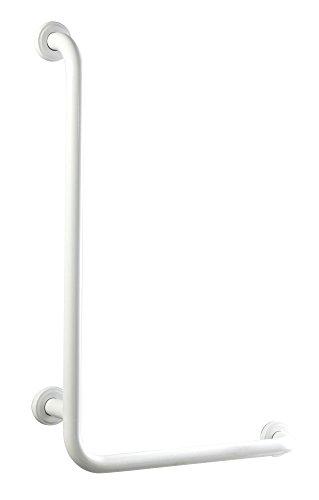 Bisk Barre d'appui coudée en forme de L Blanc 550 x 550 mm 25 mm 60,5 x 60,5 x 8 cm