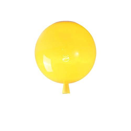 yuyu19-Chandelier Lámpara detecho lámpara de Techo de acrílico LED Restaurante Sala habitación Infantil lámpara de Techo Globo Amarillo, 25CM