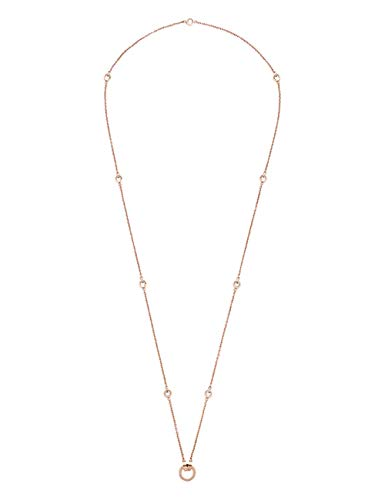 JEWELS BY LEONARDO DARLIN'S Damen-Halskette Essenza roségold, Edelstahl IP roségold mit Kristallsteinen, CLIP & MIX System, Länge 900 mm, 016123