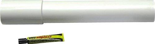 Verlängerungsrohr für Spülkasten | 300 mm | Mit Kleber | Kunststoff | Tiefspülkasten | WC, Toilette | Weiß
