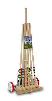 Krocket / Cricket Wagen aus Holz 6 Sp.- Art. 3106 [Spielzeug]