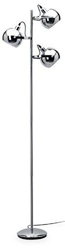Mathias 3560290 Arvin - Lampadario con 3 lampadine E14, 40 W, 230 V, diametro 46 cm, altezza 167 cm, colore: cromato