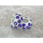 Buckets of Beads Rhinestones Charm Bead, Blue