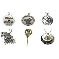 Set regalo di Natale, motivo: Il trono di spade, gioielli stile vintage e...