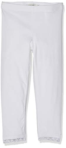 Capri-hosen-kleider (Name IT NOS Mädchen NKFVISTA Capri NOOS Leggings, Weiß (Bright White), (Herstellergröße: 116))