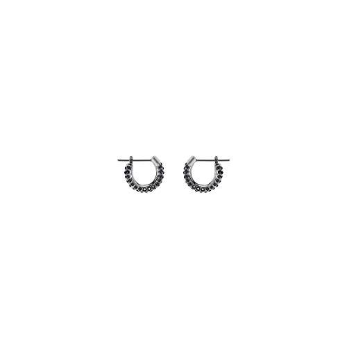 Swarovski orecchini stone, piccoli, nero, placcatura rodio