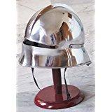 Unternehmen schließen Sallet Mittelalter Gothic-Helm, Helm Re Enactment Spartan-Kostüm ()