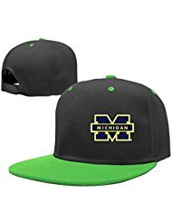 Youth Michigan Wolverines Hip Hop Cap Boys Girls Hat Snapback Adjustable One Size (Michigan One Light)