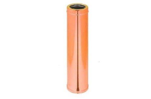 Tubo doppia parete coibentato int inox 316 aisi est rame 6 dc canna fumaria, mm 150 - 200 x mm 1000