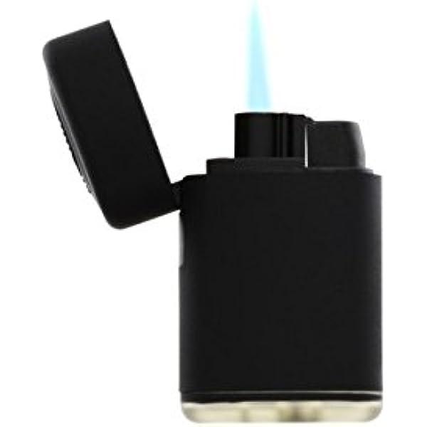 Mechero electrónico Turbo, Llama Azul, Bloque de Goma ...