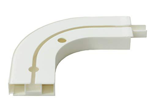 Gardineum Rundbogen für Vorhangschienen, Kunststoff, 1-Lauf, Paar, weiß