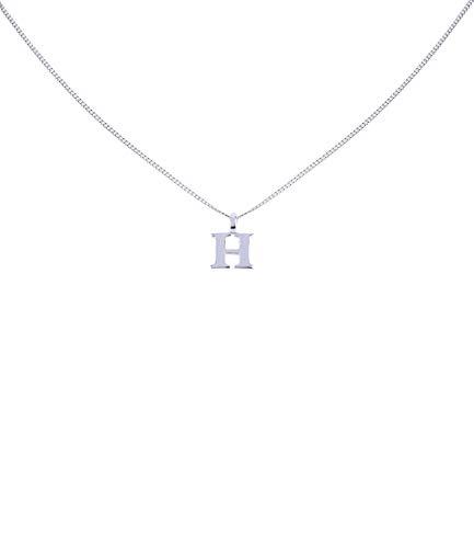 H Buchstabe Kostüm - SIX Silber Buchstaben Kette, Halskette mit Buchstaben Anhänger