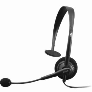 cyber-acoustics-ac-100b-monaural-headset-casque-noir