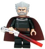 LEGO Star Wars: Count Dooku Minifigur mit rotem (Count Dooku Lichtschwert Star Wars)