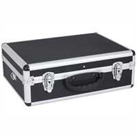 Aluminium case tool box ox for the individual storage of tools, measuring devices, cassettes, CD's, laptops, coins,-