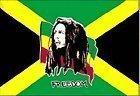 Bob Marley Freedom Jamaica Flag 5x3