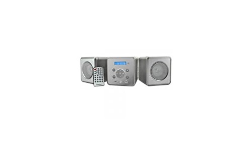 SoundMaster MCD380 FM Radio Bluetooth Micro System with CD Player - Silver