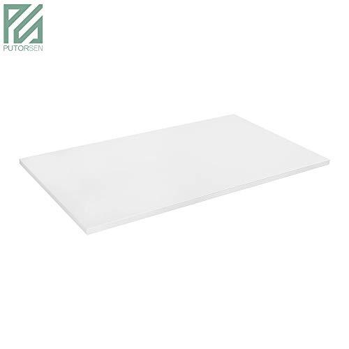 PUTORSEN® Stabile Tischplatte 2,5 cm stark - DIY Schreibtischplatte Bürotischplatte Spanholzplatte (Do It Yourself-schreibtisch)