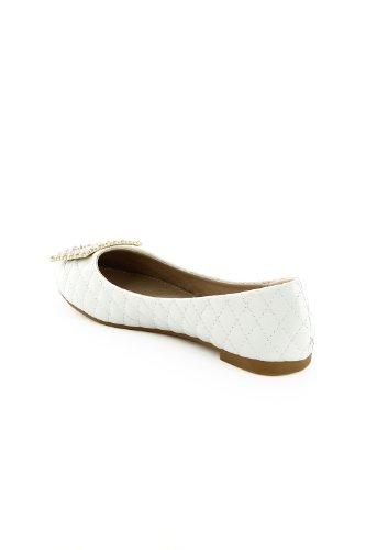 Go Tendance ,  Ballerine donna Bianco (bianco)