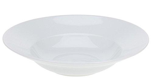 Teller in weiß - Geschirrset - Speiseteller, Suppenteller und Schalen (27 cm - Pastateller 6er Set)
