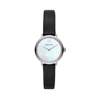 Emporio Armani MODERN SLIM AR11159 Black Leather Women's Wristwatch