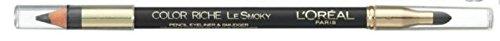 L'Oréal Colour Riche Lesmoky crayon Eyeliner & Smudger (207 Mer Agitée) avec produit en Ayur Combo