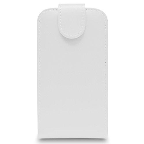 Apple iPhone 6S - cuir flip Housse Etui + protecteur d'écran et Chiffon (Rose) White